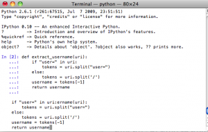 IPython command interpreter is broken when using libedit with command history